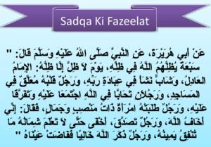 Sadqa ki Fazeelat Hadees